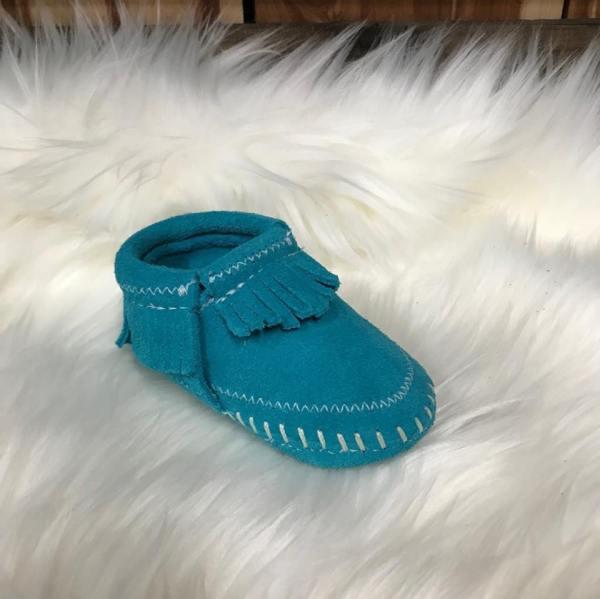 Minnetonka Child's Riley Bootie-Turquoise
