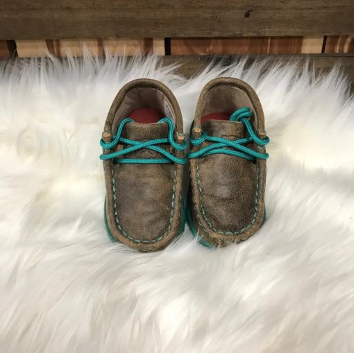 Twisted X Infant Turquoise Bomber Mocs ICA0008