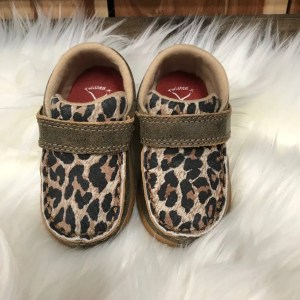 Twisted X Infant Driving Mocs Leopard/Bomber ICA0007