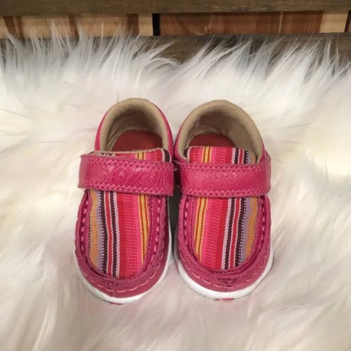 Twisted X Infant Driving Mocs Pink/Multi Canvas ICA0003