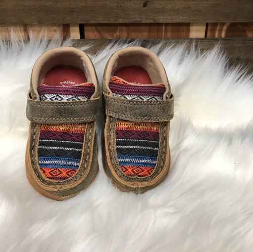 Twisted X Infant Multi Serape/Bomber Mocs ICA0004