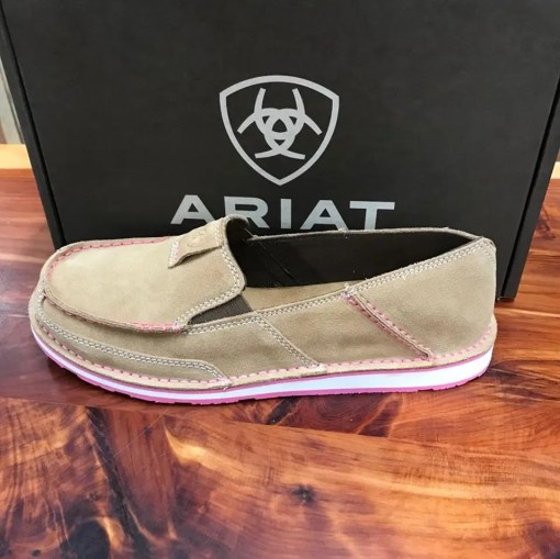Women's Ariat Drity Taupe Suede Cruiser 10019889