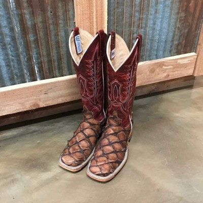 Anderson Bean Matte Cigar Big Bass Square Toe Boots 3065M