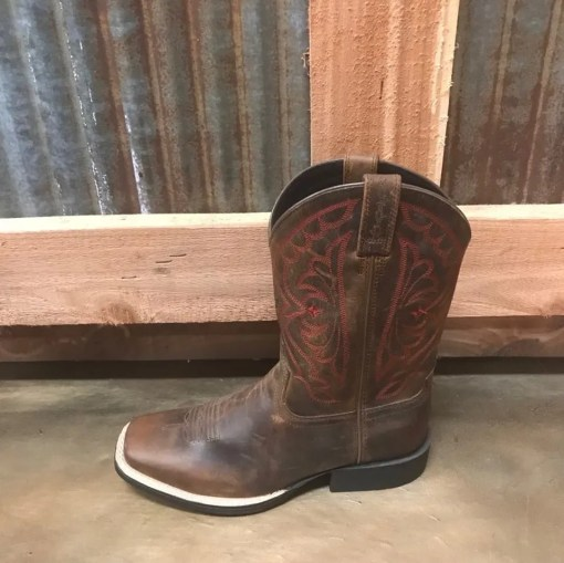Kid's Ariat Quickdraw Square Toe Boot in Distressed Brown 10004853
