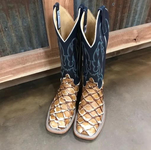 Anderson Bean Antique Saddle Big Bass Square Toe Boot