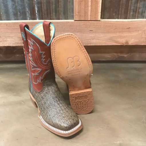 Kid's Anderson Bean Tobacco Caiman Print Boot K7081
