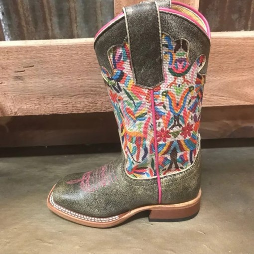 Girl's Macie Bean Multi-Color Cracktacular Square Toe Boot MK9133