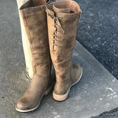 Ladies Ventura Distressed Brown Boot