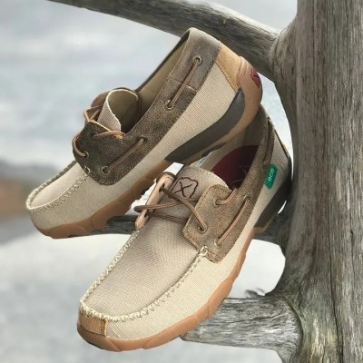 Men's Twisted X Khaki Bomber Boat Shoe MDM0078