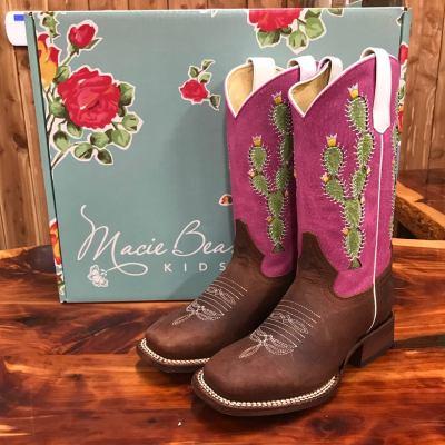 Kid's Macie Bean Cactus Sensation Square Toe Boots MK9132
