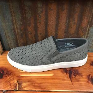 Ladies Corky Powder-Grey Slip-On Sneakers