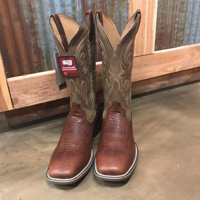 Men's Ariat Heritage Latigo Cognac Square Toe Boots 10025094