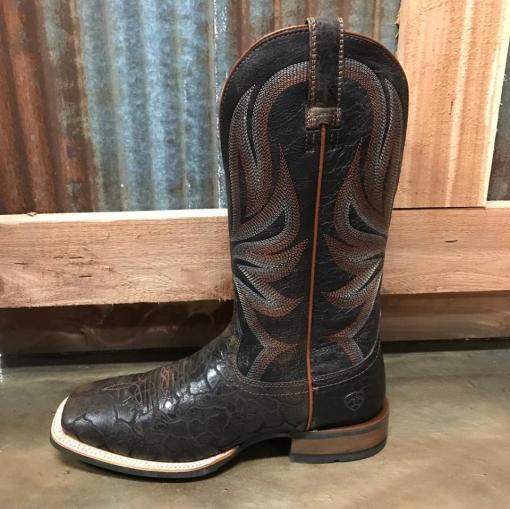 Men's Ariat Range Boss Chocolate Square Toe Boots 10025119