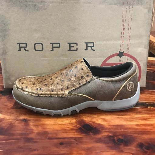 Men's Roper Owen Embossed Ostrich Driving Moc