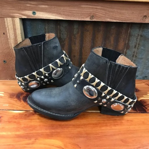 Women's Corral Harness Western Ankle Bootie