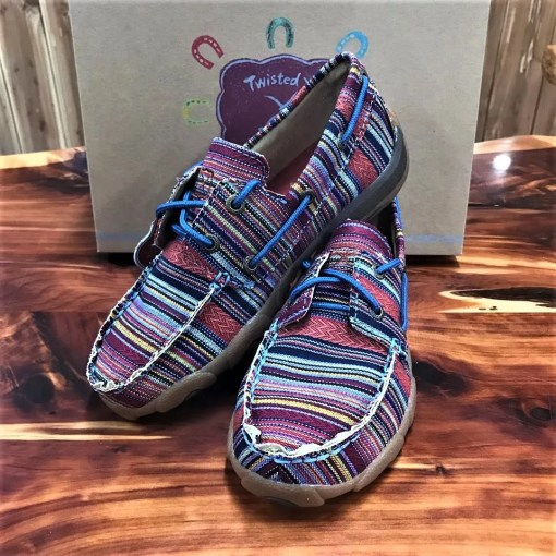 Kid's Driving Mocs Multi Stripe YDM0041