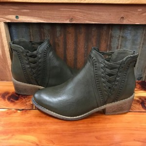 Ladies Boutique Detailed Bootie in Khaki
