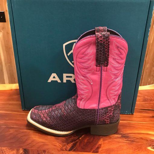 Kid's Ariat Brumby Legarto Lavender Square Toe Boot 10025173