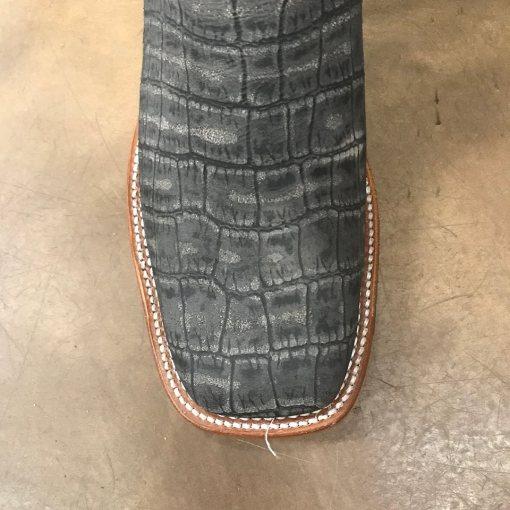 Men's Horse Power Black Vintage Caiman Square Toe Boot HP1832