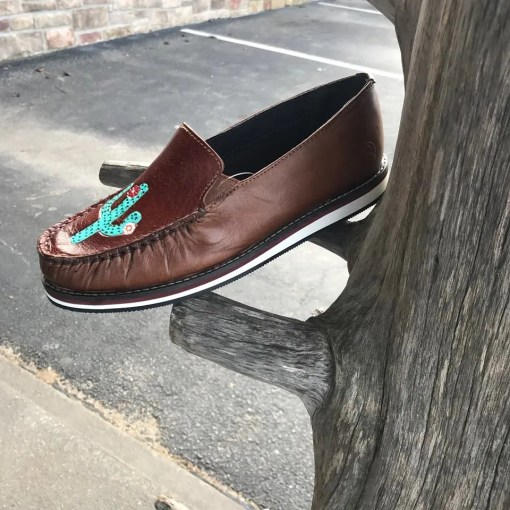 Roper Women's Lone Cactus Slip-On Moccasins