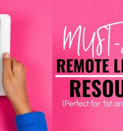 35 Useful Remote Learning Resources - Lucky Little Learners [ 1050 x 2000 Pixel ]