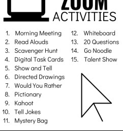 Zoom Activities to Use with Distance Learning - Lucky Little Learners [ 1024 x 791 Pixel ]