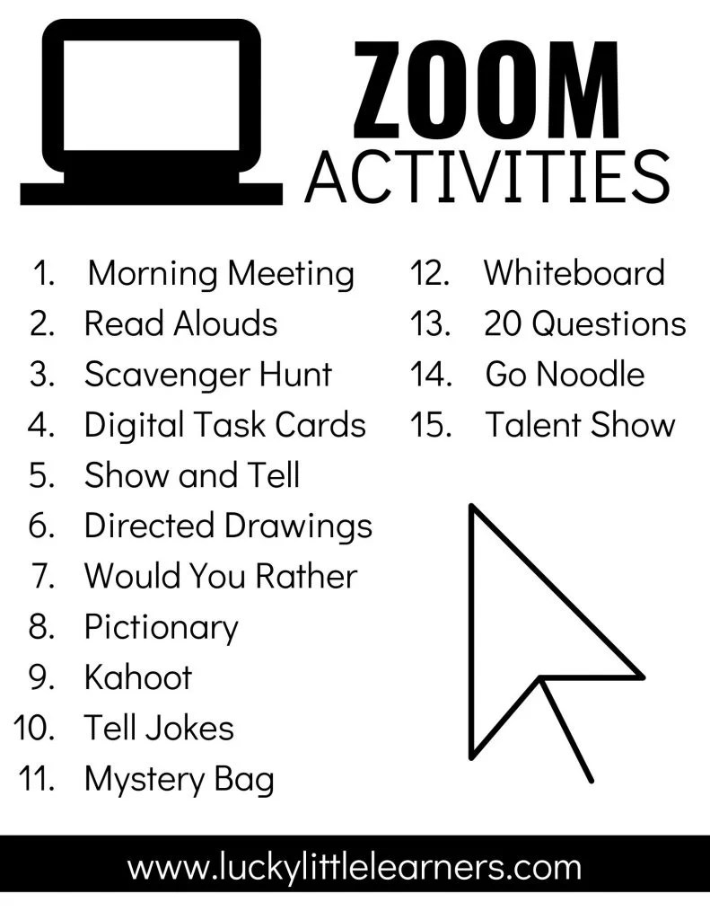 hight resolution of Zoom Activities to Use with Distance Learning - Lucky Little Learners