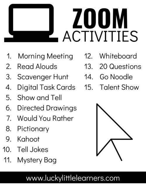 small resolution of Zoom Activities to Use with Distance Learning - Lucky Little Learners