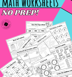 2nd Grade Math Worksheets - No Prep! - Lucky Little Learners [ 1500 x 1000 Pixel ]