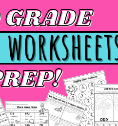 2nd Grade Math Worksheets - No Prep! - Lucky Little Learners [ 1050 x 2000 Pixel ]