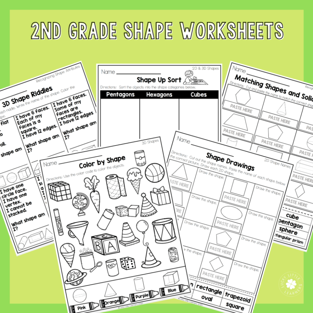 medium resolution of 2nd Grade Math Worksheets - No Prep! - Lucky Little Learners