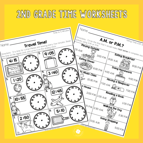 small resolution of 2nd Grade Math Worksheets - No Prep! - Lucky Little Learners