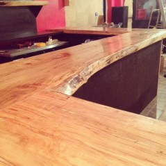 finishing the bartop