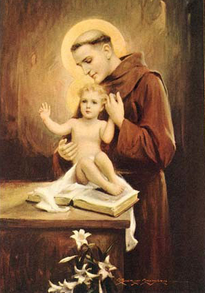 Saint-Anthony-with-the-Infant-Jesus-a-cluster-of-lilies-and-an-open-book