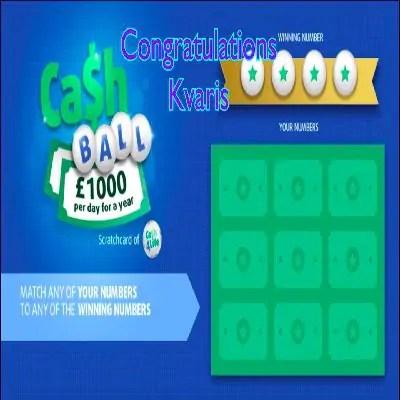 Daily Prize Draw Winner 04-01-2021