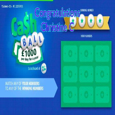 Daily Prize Draw Winner 13-03-2021