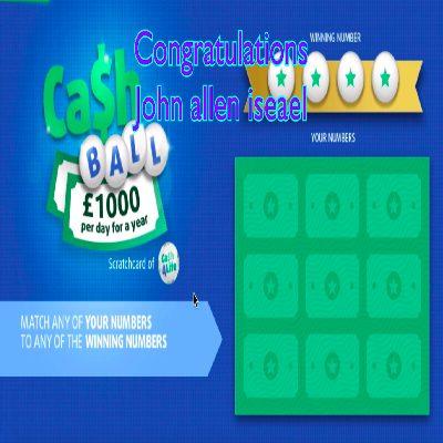 Daily Prize Draw Winner 26-04-2021
