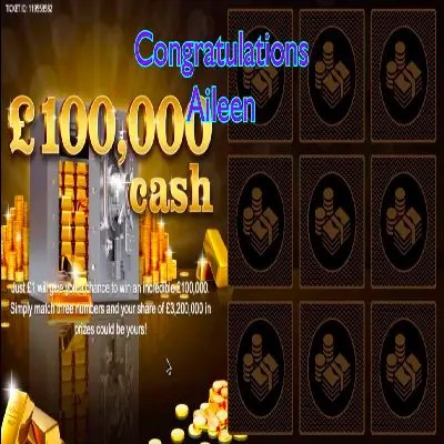 Daily Prize Draw Winner 29-05-2021