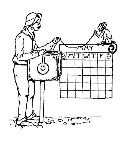 Vintage May Calendars – Blackboard Art