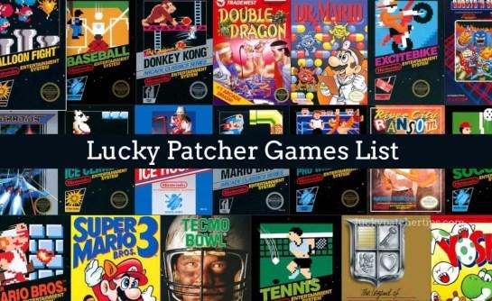 Lucky Patcher Games List