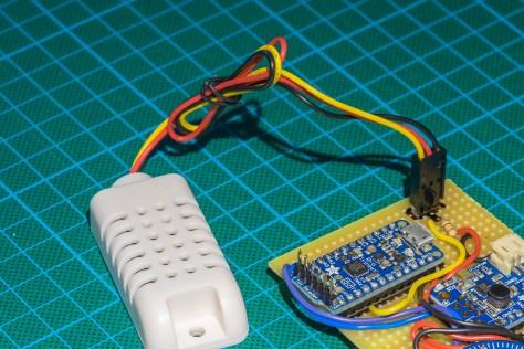 The sensor with crimps.