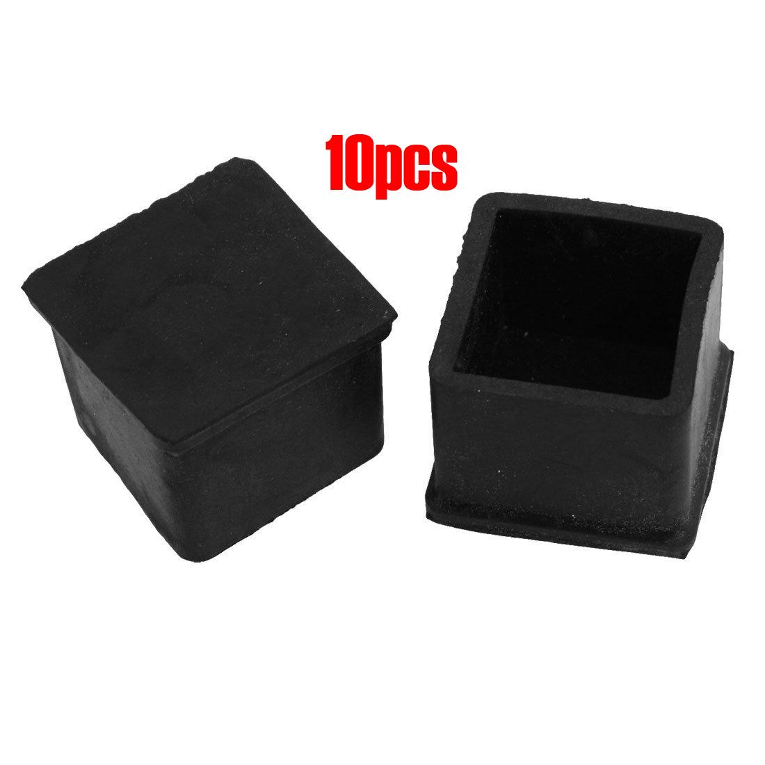 sofa feet covers rafferty traditional dark brown table 10 pcs black 30mm x furniture foot protector square