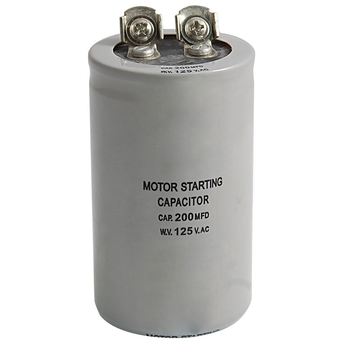 run capacitor object state diagram ac 125v 200uf 200mfd 2 terminals motor start