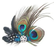 cute peacock feather bridal wedding