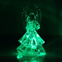 07S8 7 Colors Changing Crystal LED Christmas Angel ...