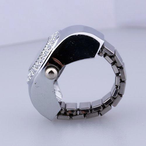 TOP Damen Quarzuhr Ringuhr Ring Uhr Fingeruhr Uhrenring