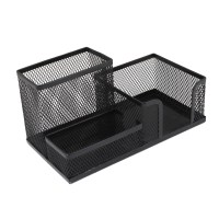 Students Office Desk Mesh Style 3 Compartments Metal Pen ...