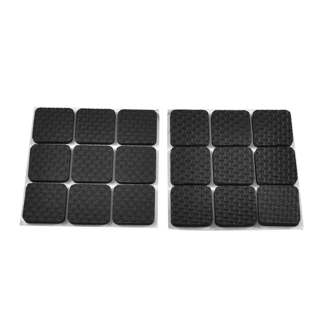 Chair Feet Pads 18 Pcs Square Shaped Black Adhesive Protection Pad For