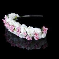 Flower Garland Flowers Bride Wedding Headband Hair Band BF ...
