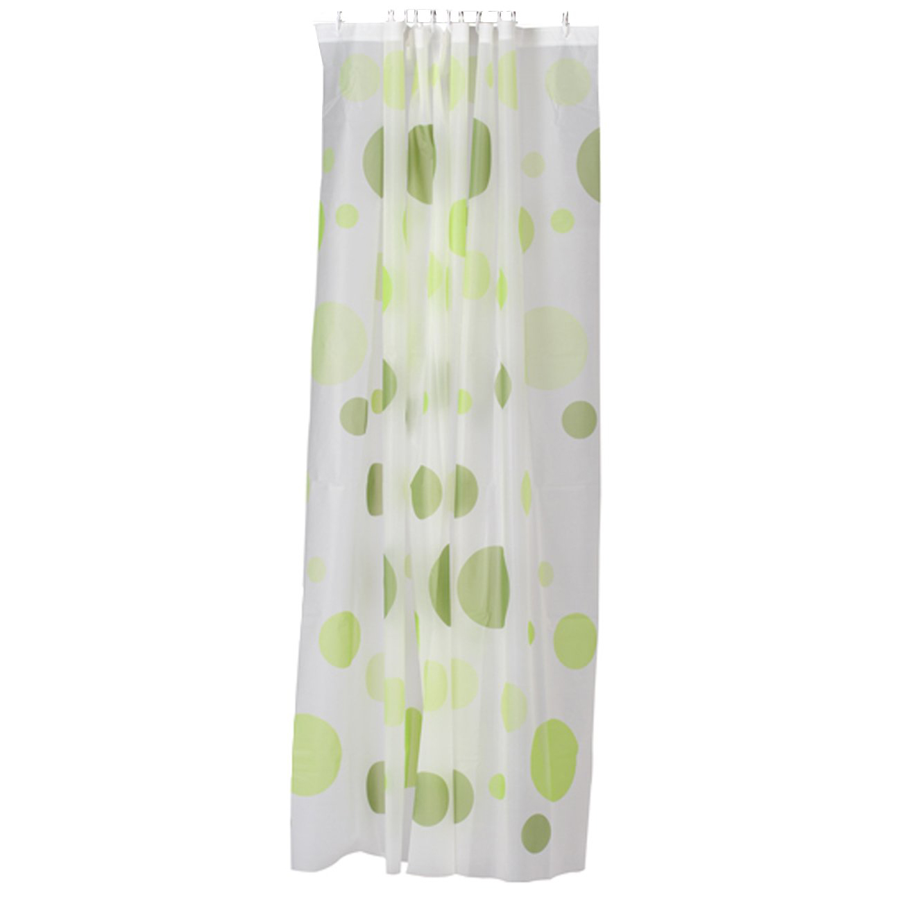 PEVA Shower Curtain Bath Curtain with Rod Hooks  Dots